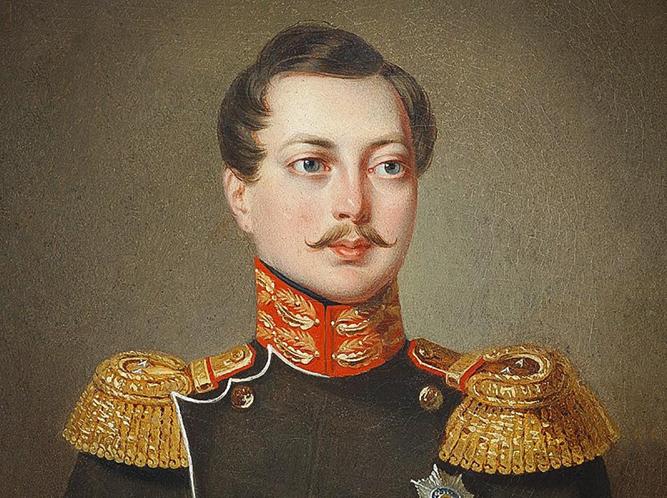 Alexander II muda, saat itu — tsarevich dan pewaris tahta Rusia.