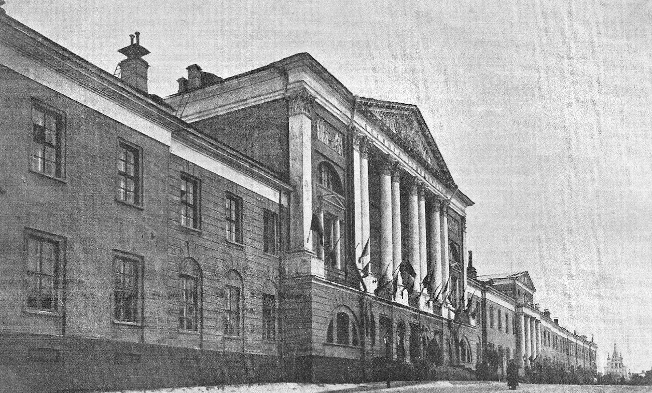 Hospital militar en 1907.