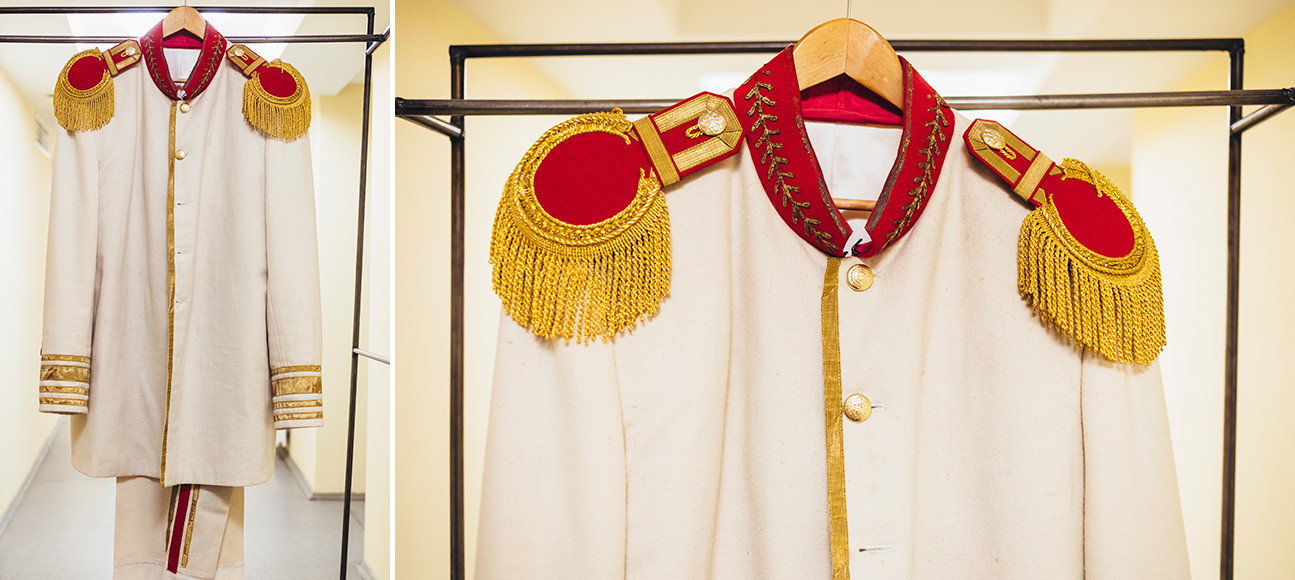 Spectacle Le plus malin s'y laisse prendre, d'après la pièce d'Alexandre Ostrovski. Costume de Kroutitski.