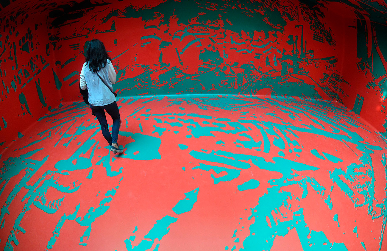 Мультимедийная инсталляция Ирины Наховой «Зеленый павильон» на Венецианской биеннале