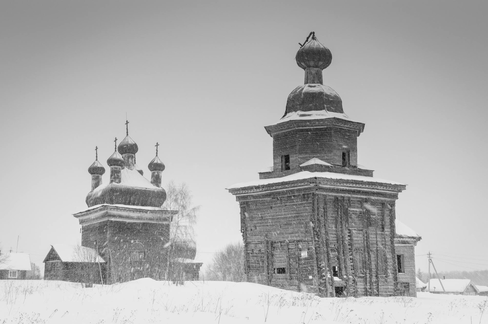 The monasteries in Shelokhovskaya village.