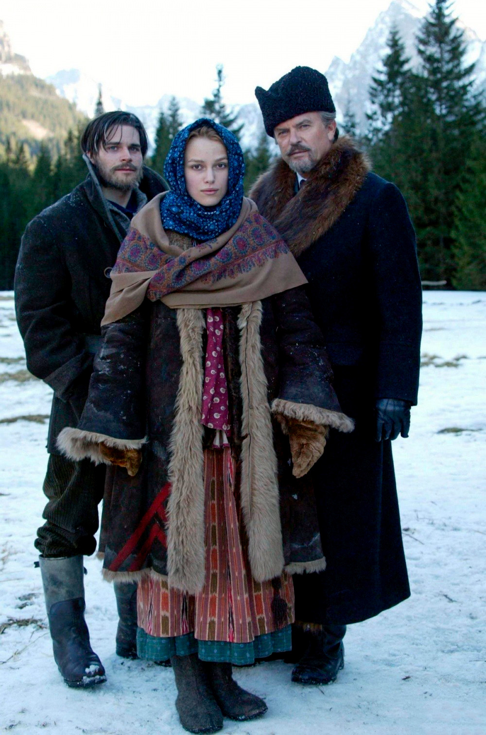 Hans Matheson (R) portrayed Zhivago in the 2002 mini-series by Giacomo Campiotti.