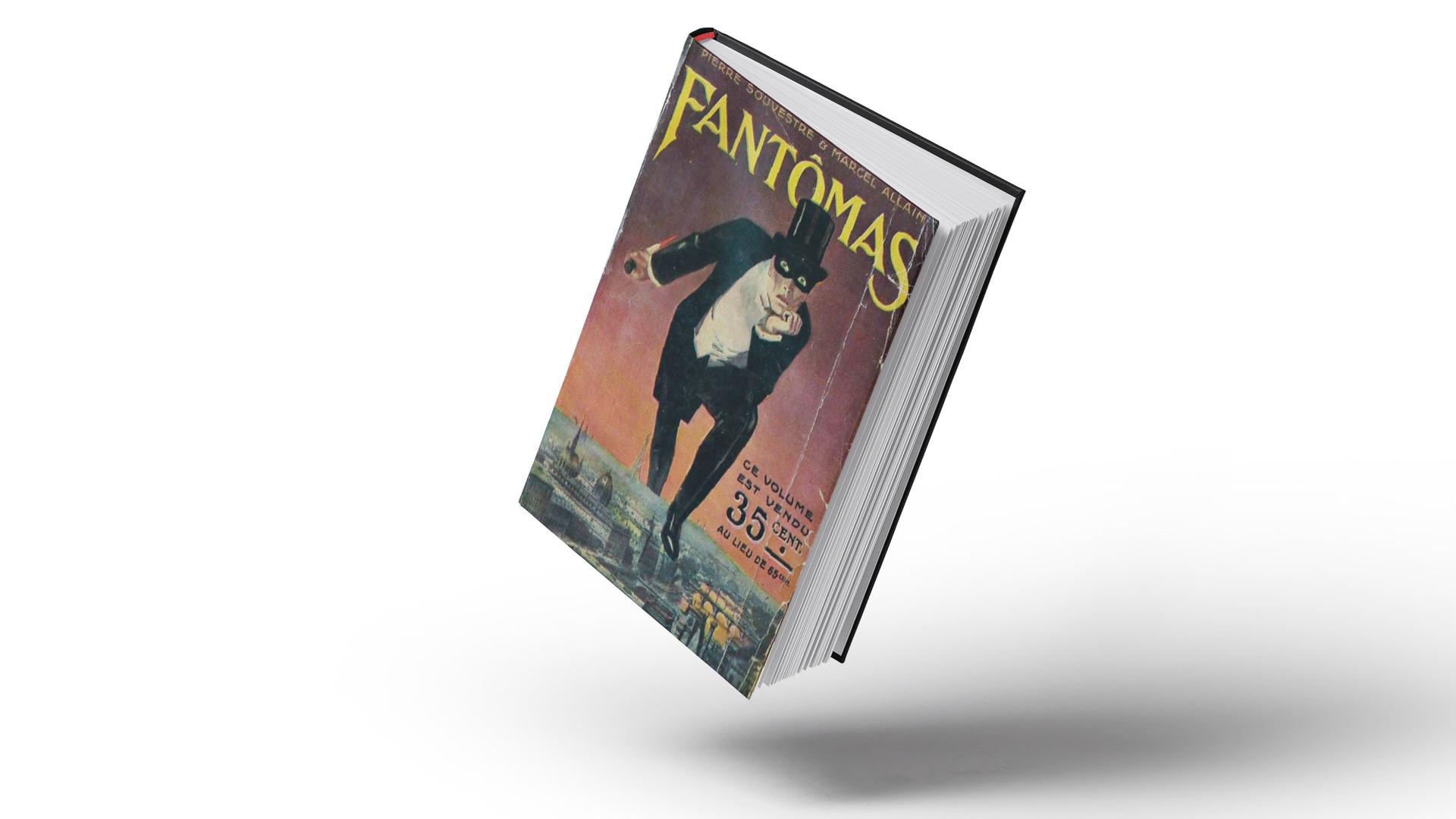Обложка одного из первых романов о Фантомасе, 1911.