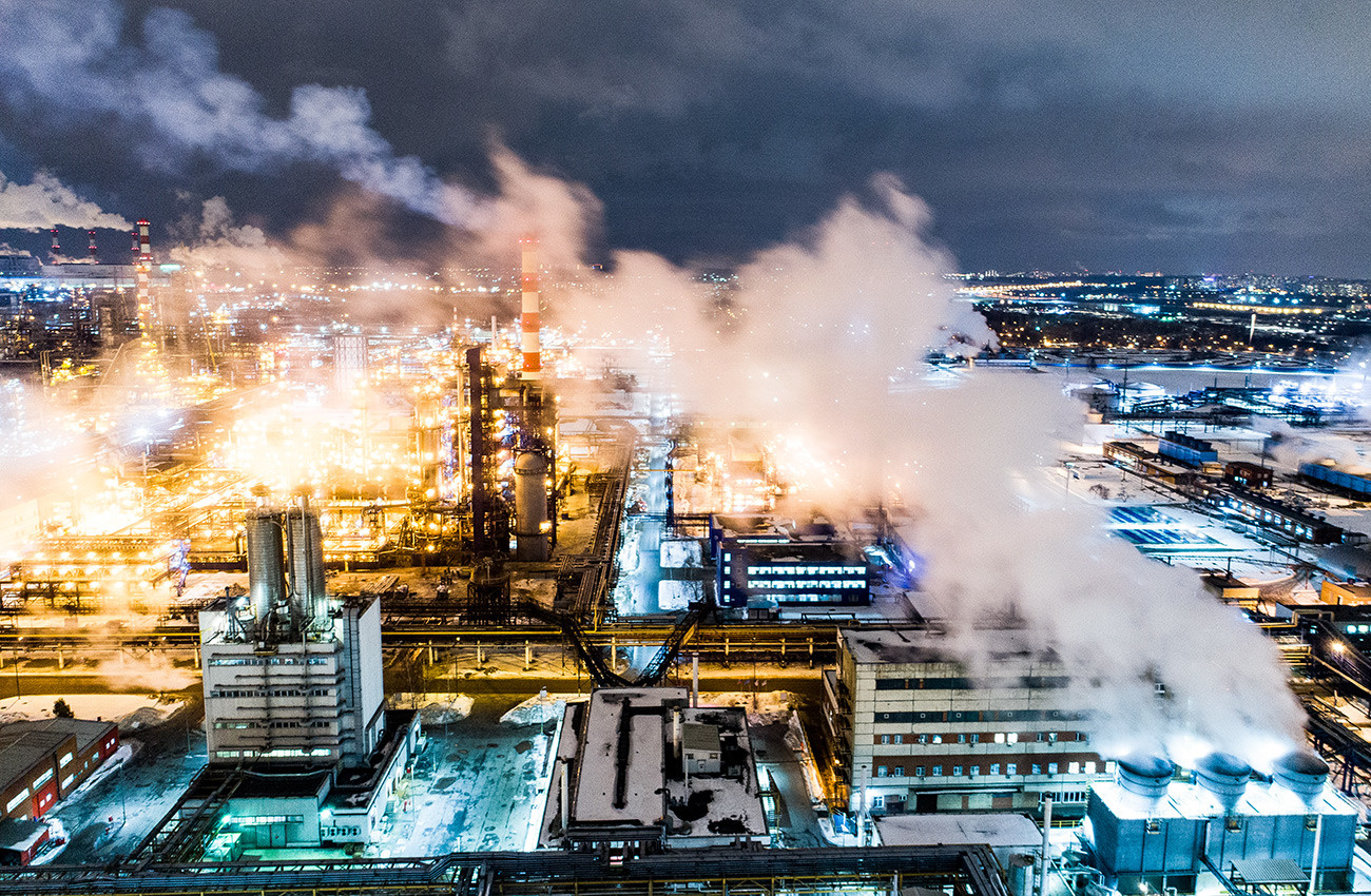 Moskovska tvornica za preradu nafte u rajonu Kapotnji.