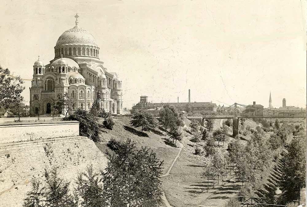 La cathédrale navale de Kronstadt flambant neuve, années 1910. Photographe inconnu