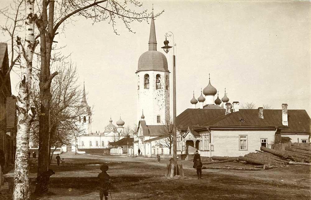 Novaïa Ladoga, années 1900. Carte postale. Photographe inconnu