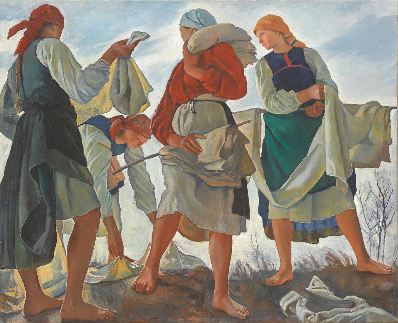 Zinaida Serebryakova. Whitening Linen
