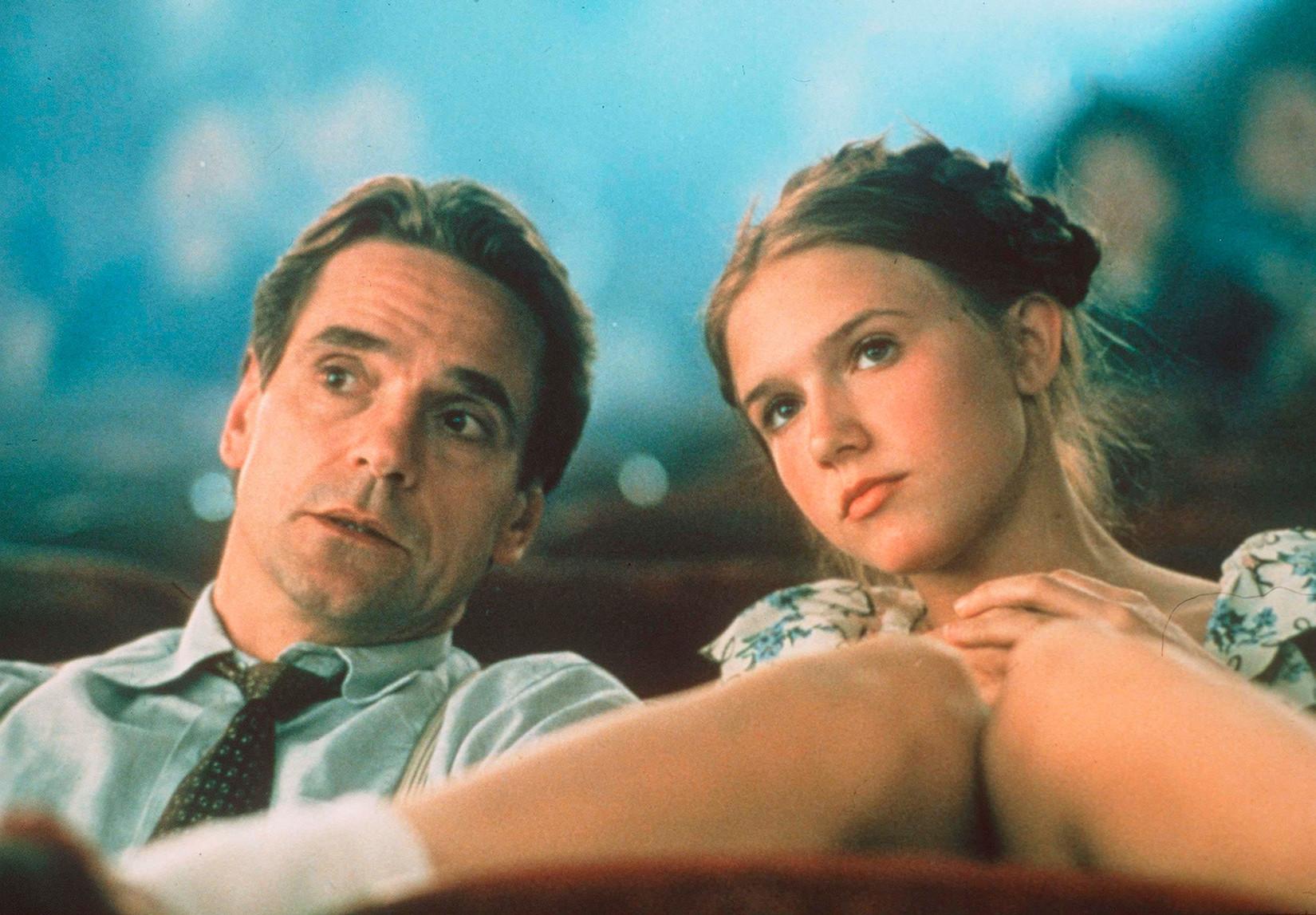 """Сцена из филма """"Лолита"""" Адријана Лина (1997)."""