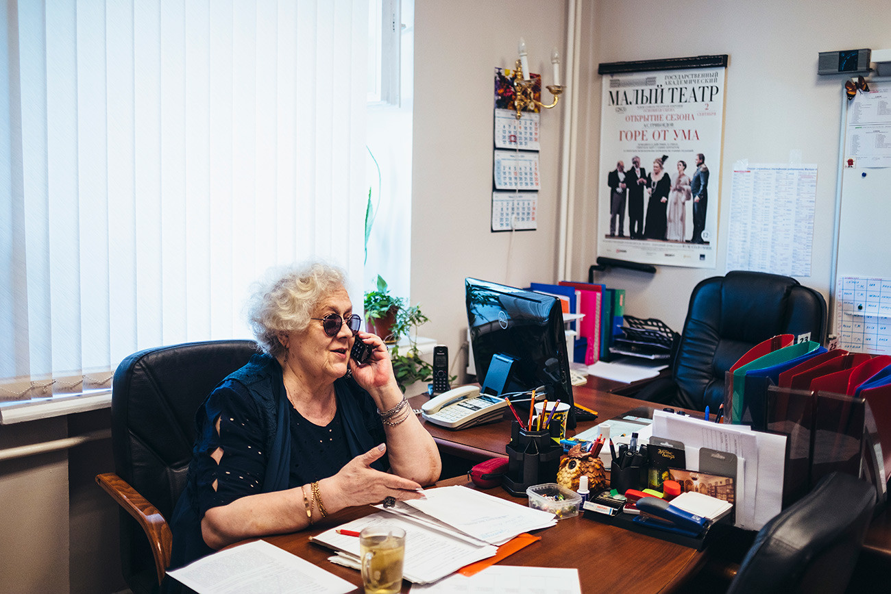 Larisa Andreyeva in the theater office