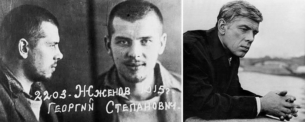 Georgij Žžonov kot zapornik in kasneje kot igralec (iz filma Igorja Dobroljubova