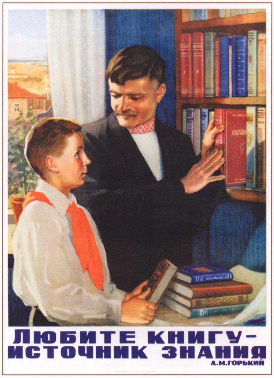 Aimer les livres, c'est une source de connaissance.