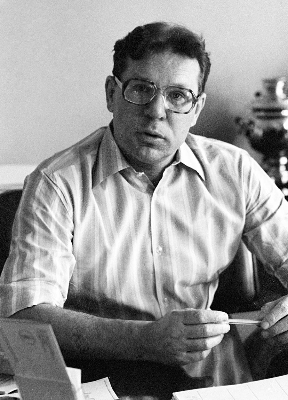 Akademik Valerij Legasov, istaknuti sovjetski znanstvenik specijaliziran za anorgansku kemiju, 1983.