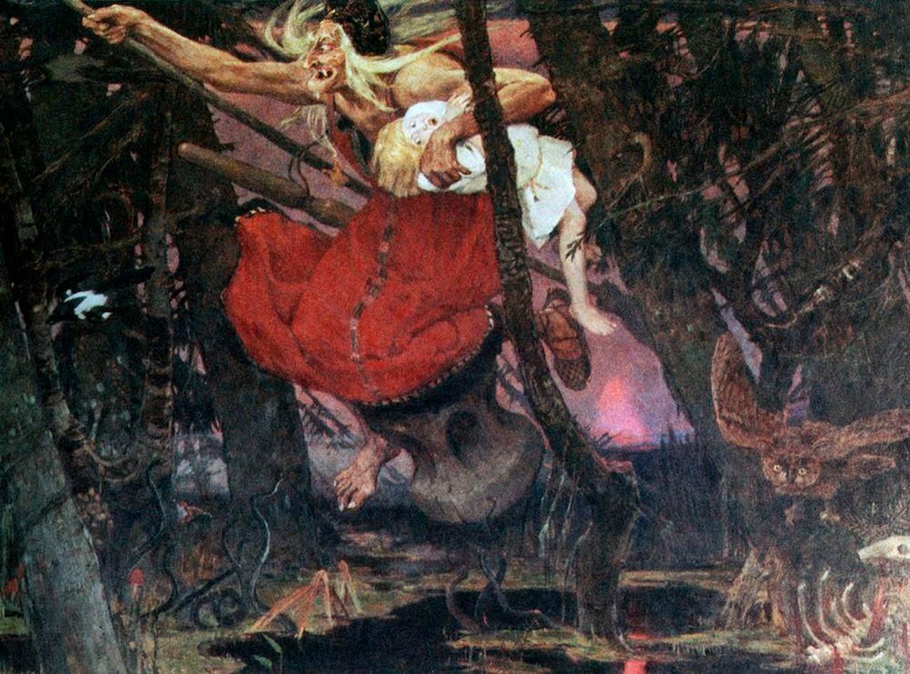 Bába Iagá pintada por Víktor Vasnetsóv.
