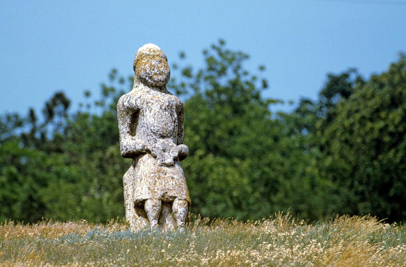 Bába tradicional de pedra polovetsiana.