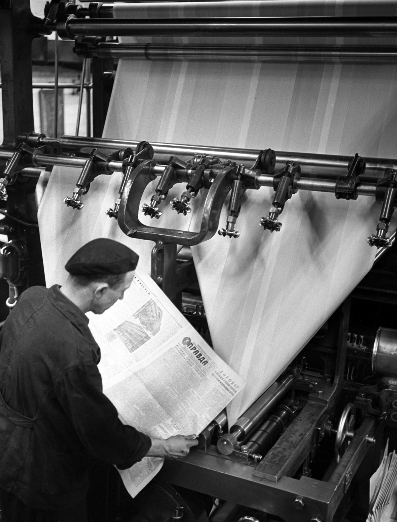 Banyak pencetakan yang dilakukan di masa Uni Soviet.