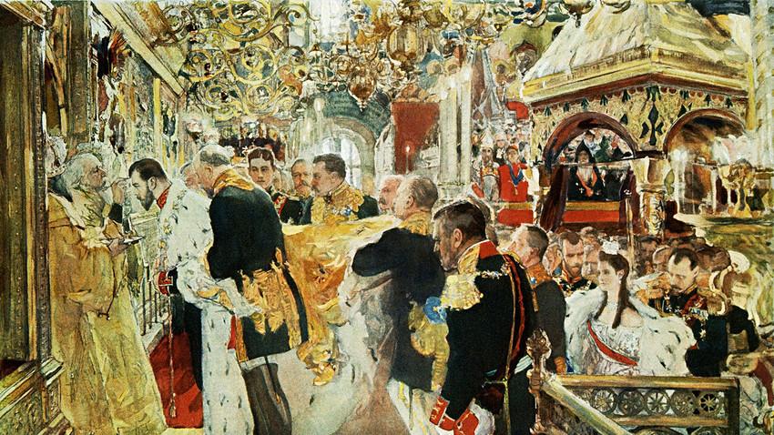 Валјентин Серов, Миропомазање императора Николаја Александровича у Успенском храму
