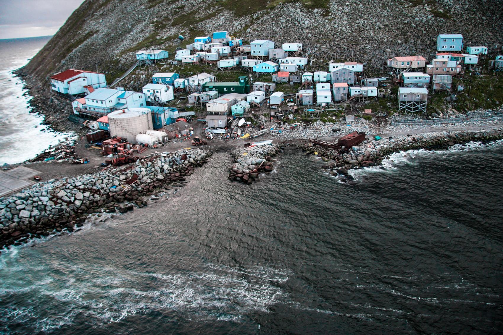 Селото на Малък Диомед е на границата между Русия и САЩ.