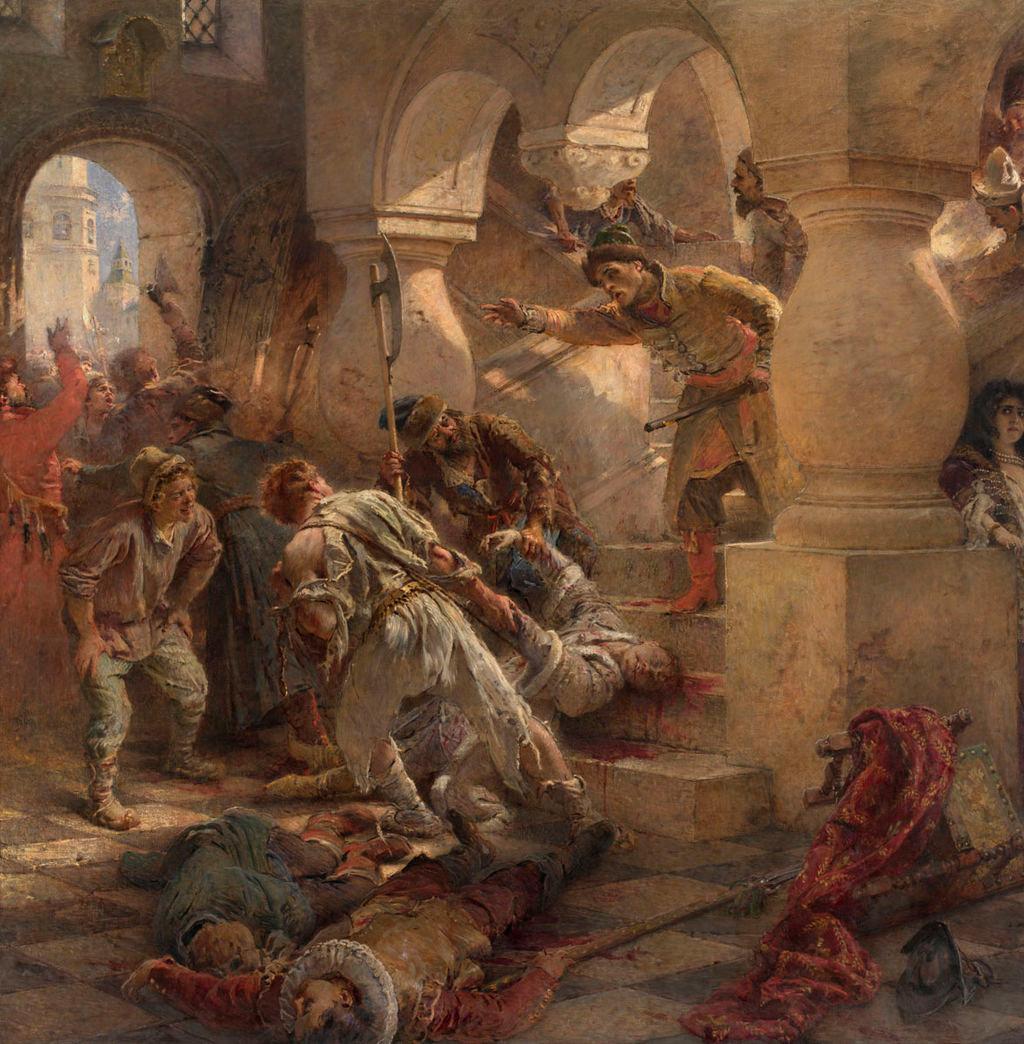 Konstantin Makovsky. The Murder of False Dmitry