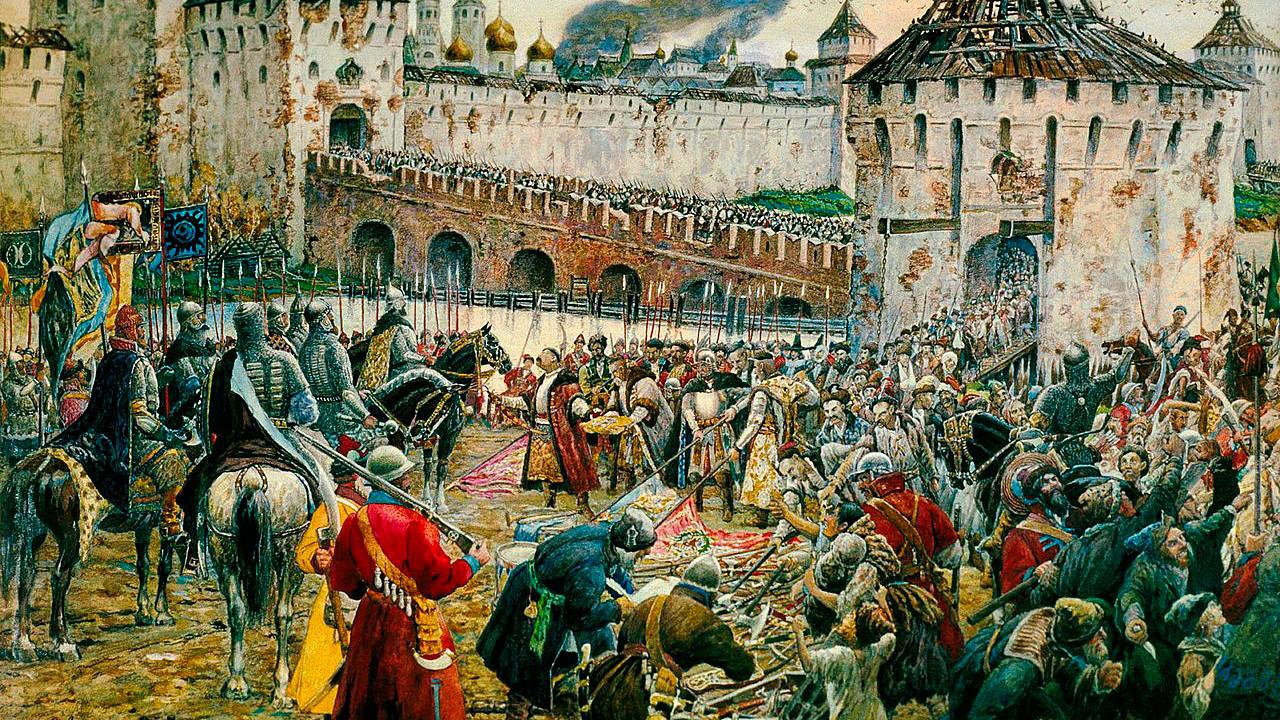 Ernst Lissner. The Poles surrender the Moscow Kremlin to Prince Pozharsky in 1612 (1938)