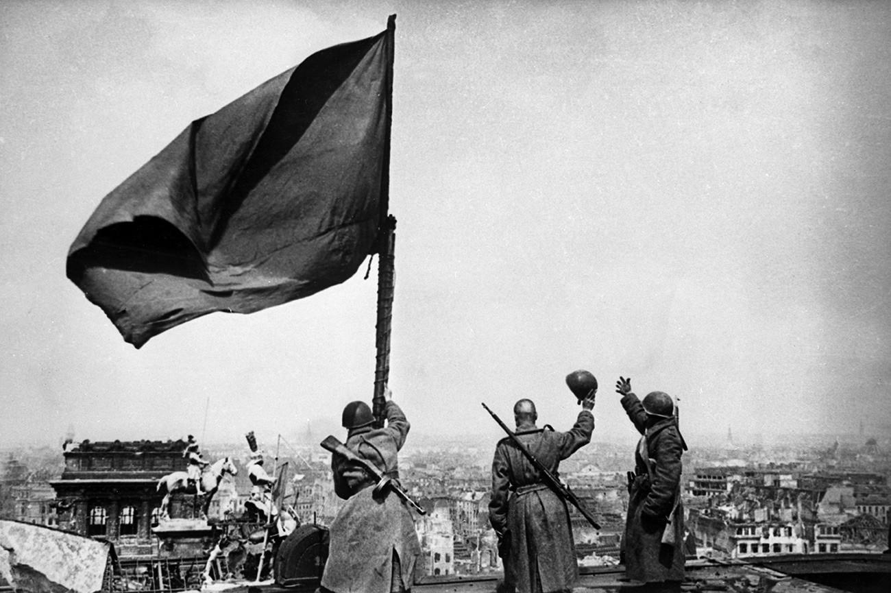 знамя победы вов фото фотографией