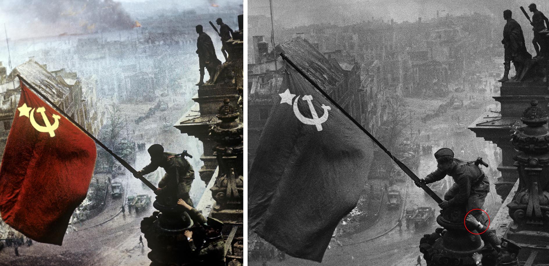 Fakta Lain Di Balik Foto Bendera Soviet Yang Dikibarkan Di Reichstag