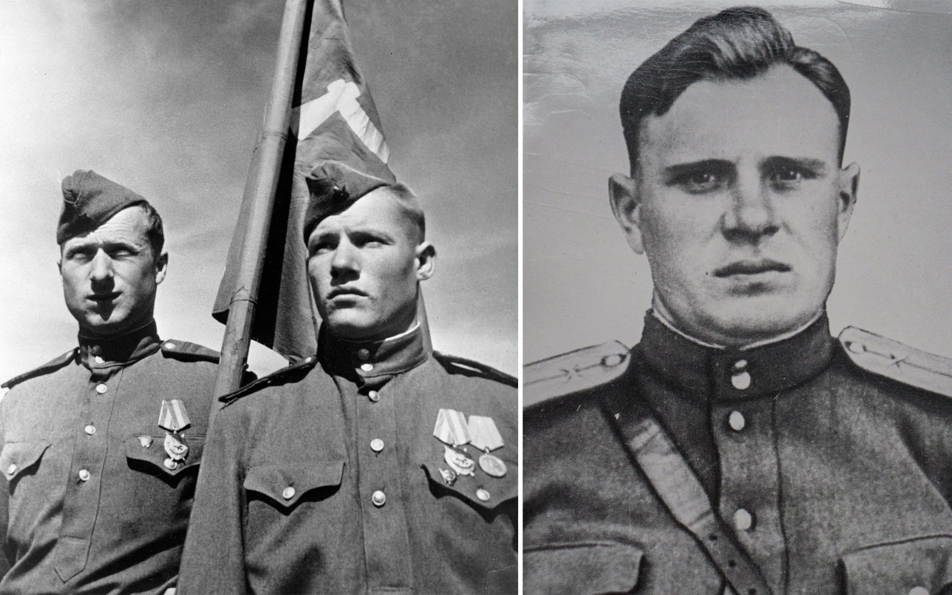 Meliton Kantaria, Mikhail Iegorov e Aleksêi Berest
