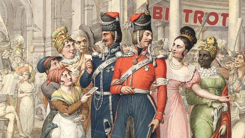 Cossacos russos em Paris (1814- 1815).