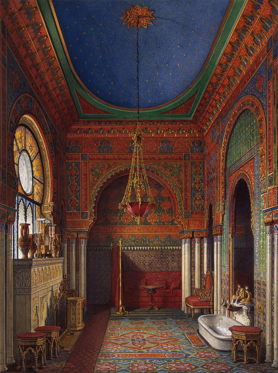 Eduard Gau.  El cuarto de baño de la emperatriz Alexandra Fyodorovna