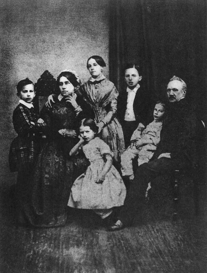Porodica Čajkovski u 1848. godine (Petar je levo)