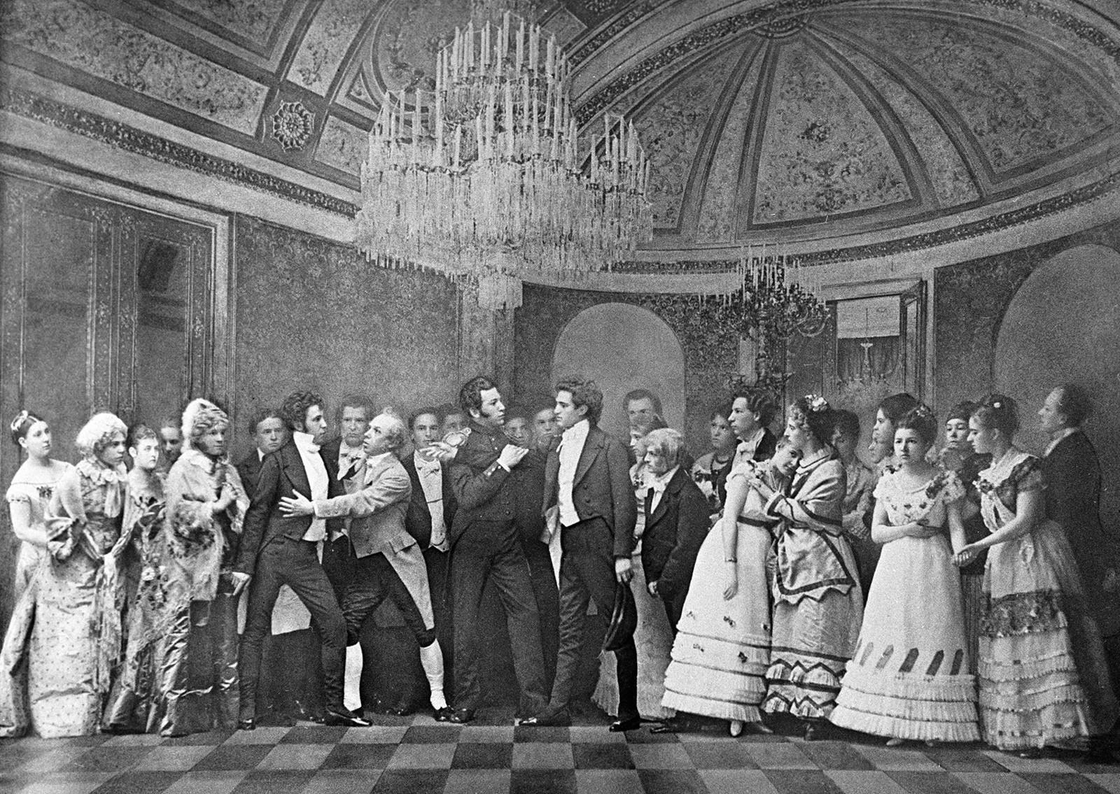 """Студенти Московског конзерваторијума изводе сцену из опере Петра Чајковског """"Евгени Онегин"""""""