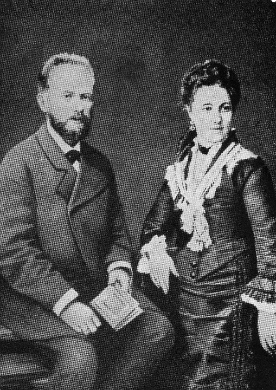 Чајковски са супругом Антонином Ивановном. Јул 1877, Москва