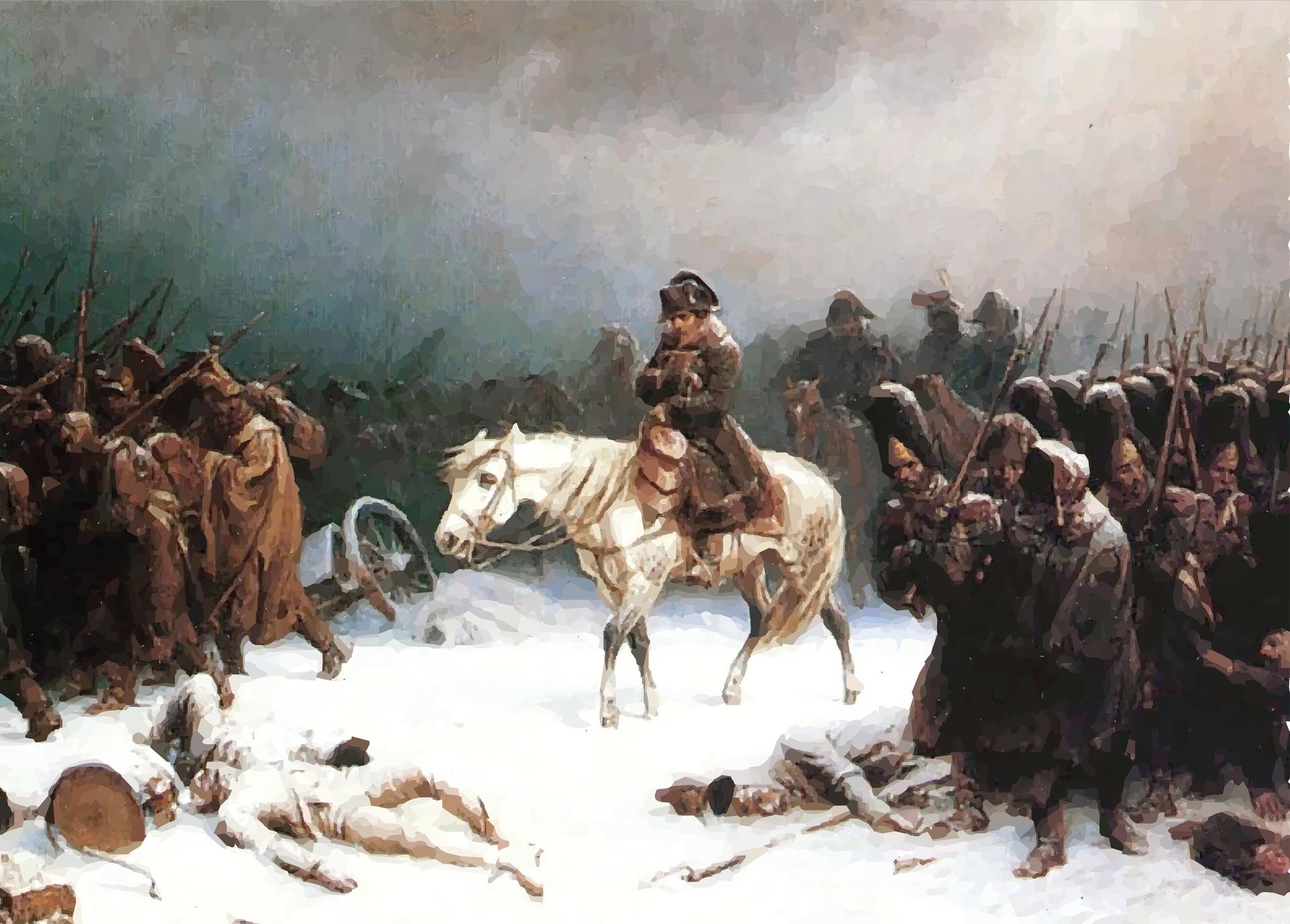 Adolf Norten. Napoleon's retreat from Russia.