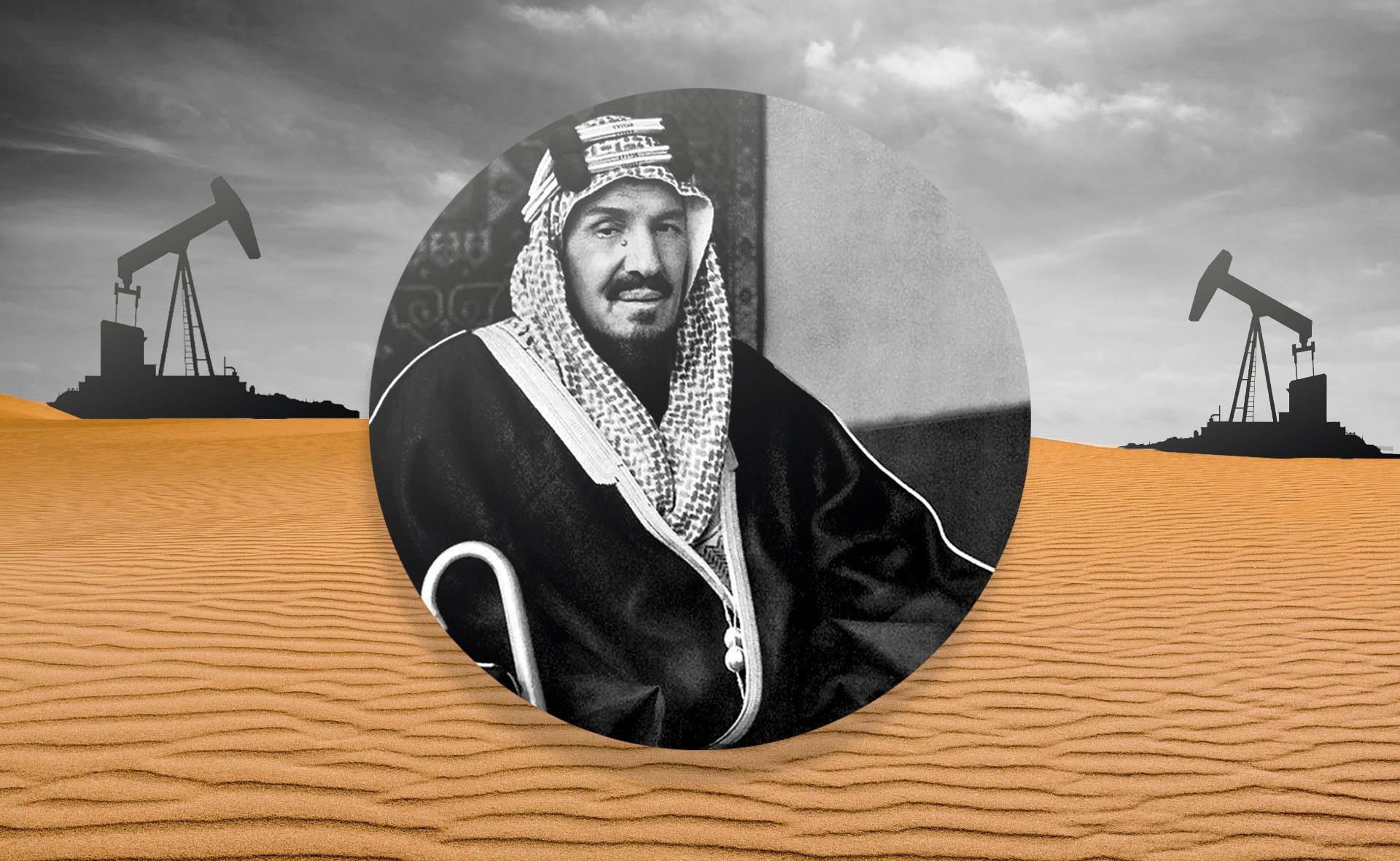 Абд-аль-Азиз ибн Абд-ар-Рахман Аль Сауд, первый король Саудовской Аравии.