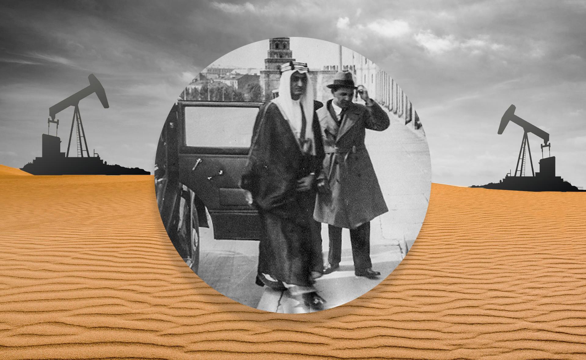 イブン・サウードとカリム・ハキモフ、モスクワのクレムリン、1932年