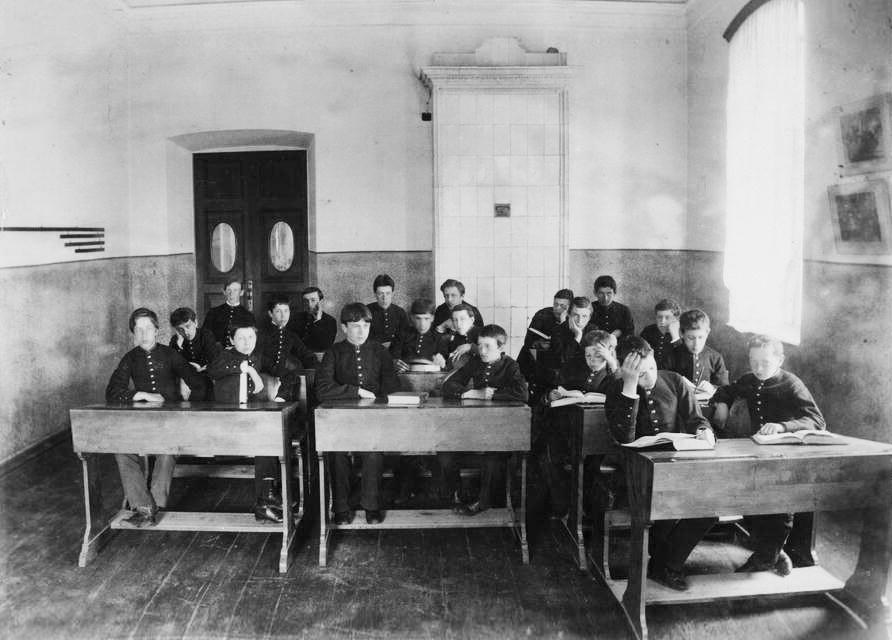 Ein Gymnasium in Tjumen
