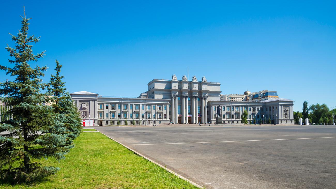 Trg Kujbiševa, Samara - največji trg v Evropi