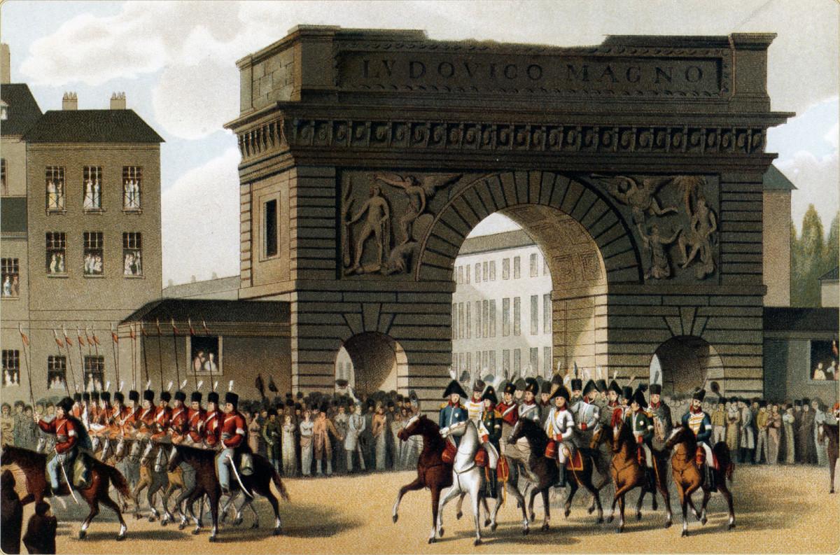A entrada do imperador Aleksandr 1° em Paris, 1814.