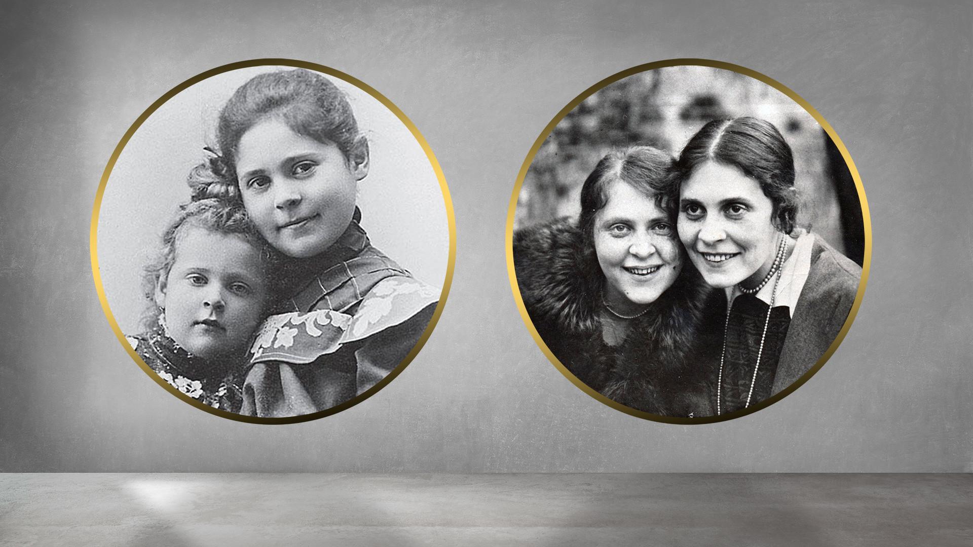 As irmãs Lília e Elsa, entre os anos de 1900 e 1918.