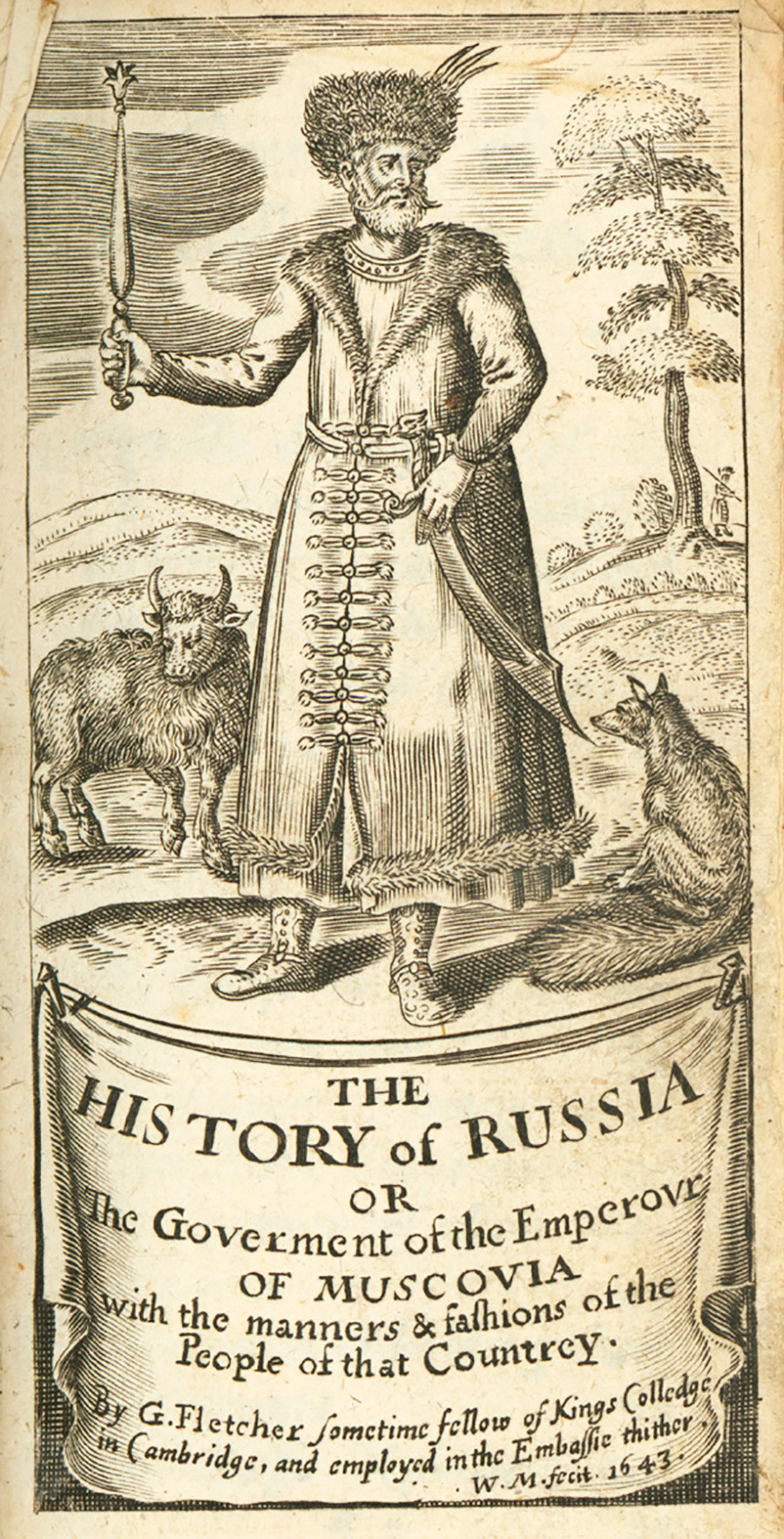 Giles Fletcher 'The history of Russia' titlepage, 2nd Ed. (1643).