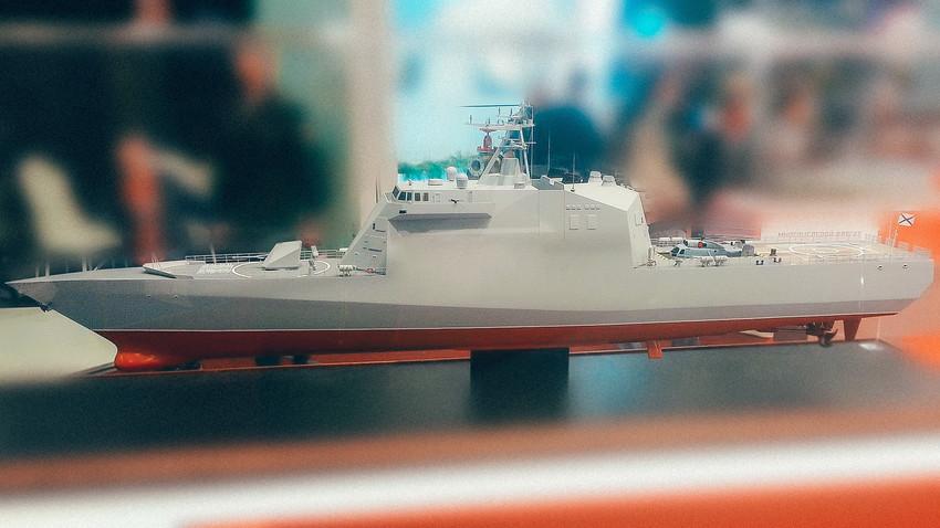 Maqueta de la corbeta del proyecto 20386.
