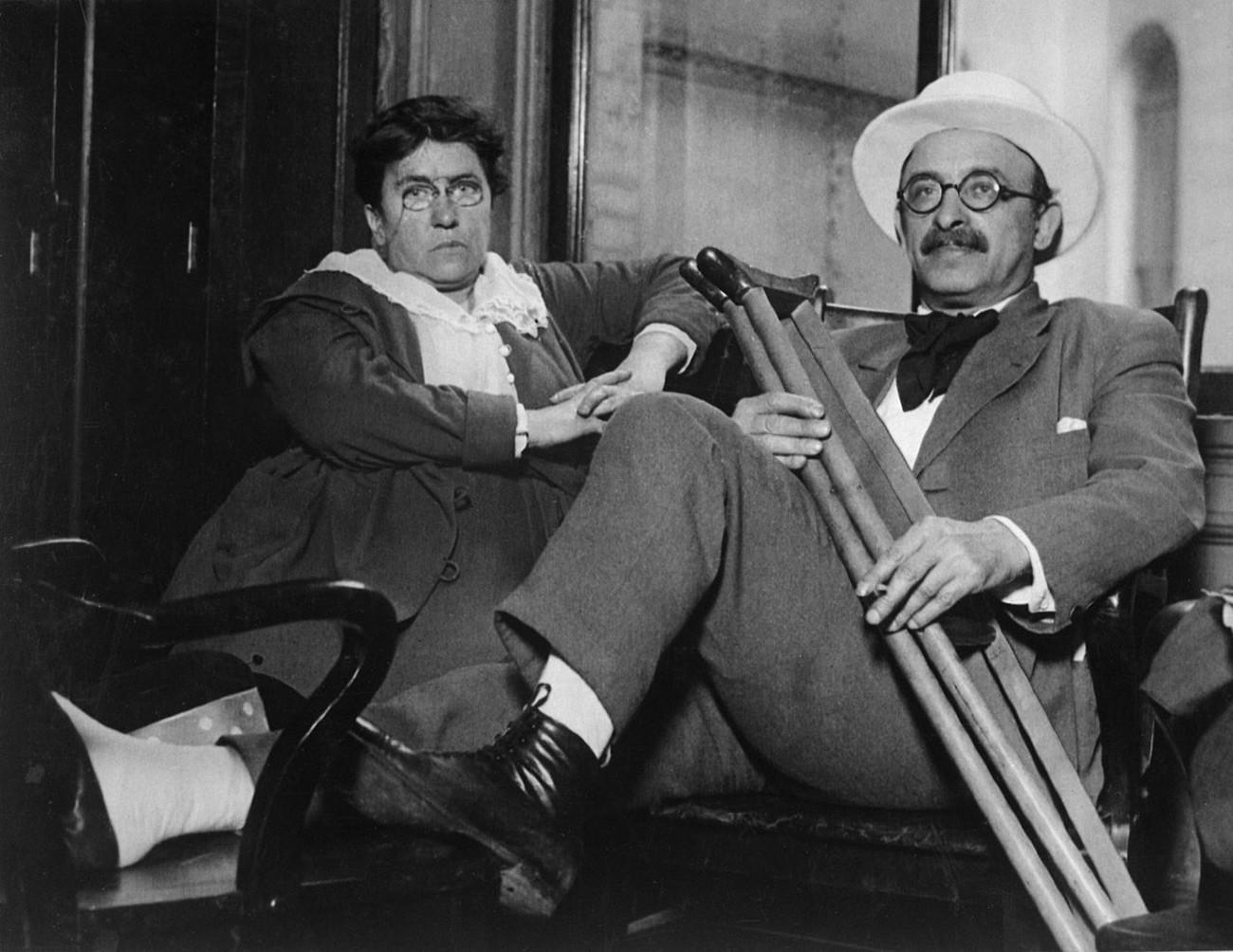 Эмма Гольдман и Александр Беркман в 1917-1919 гг.