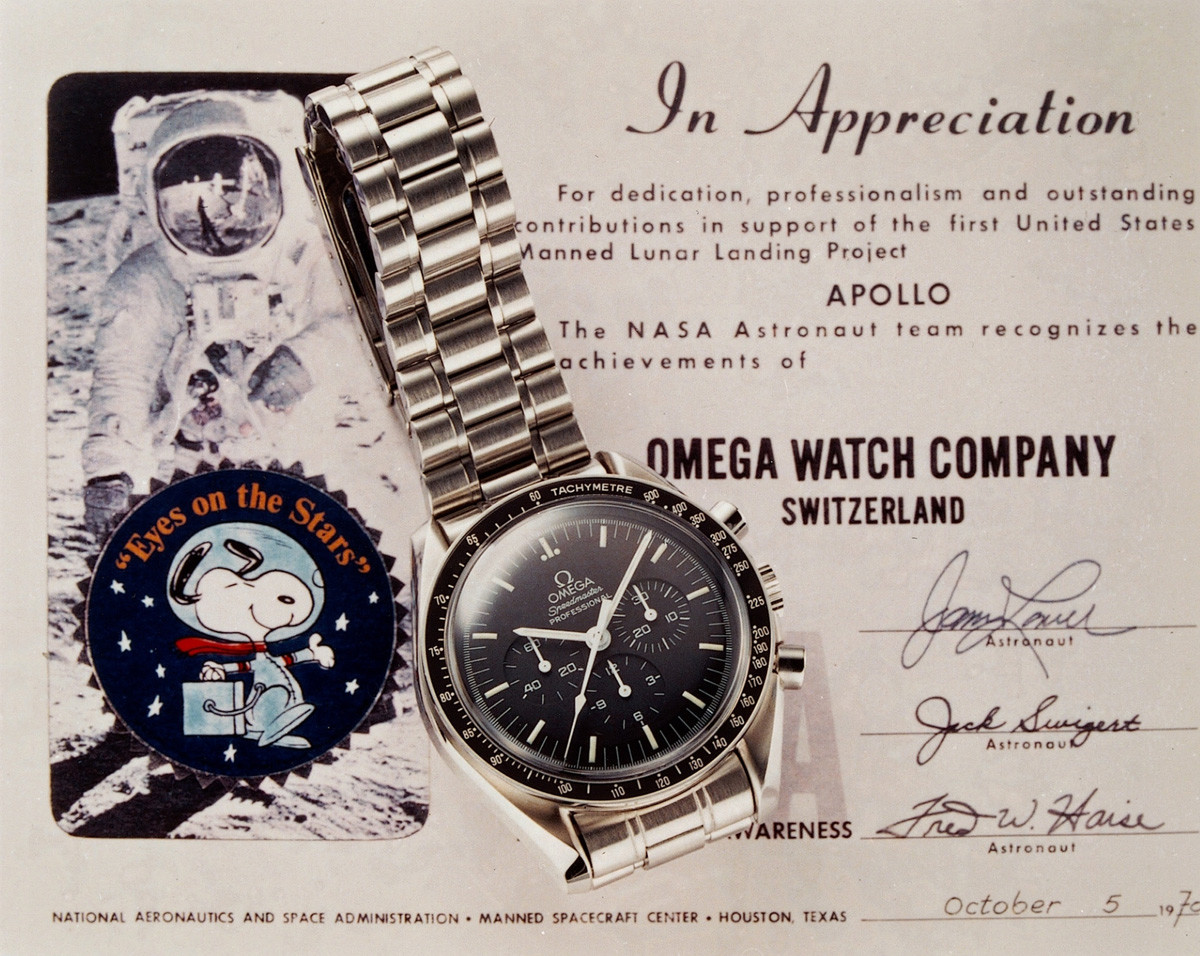 "Omega earning the ""Snoopy Award"" the highest distinction awarded by NASA"