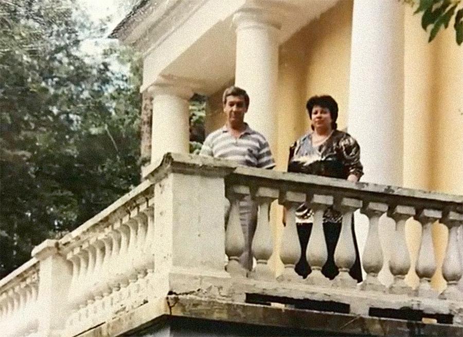 Валентина Соловјова са мужем