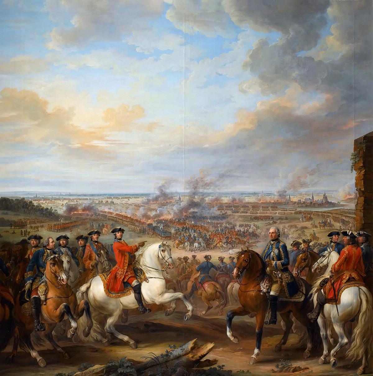 Битка код Фонтноа, 11. маја 1745. Пронађено у колекцији Музеја историје Француске у Версајском замку.