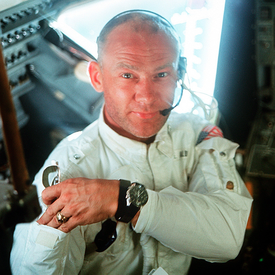 "US-amerikanischer Austronaut Edwin ""Buzz"" Aldrin"
