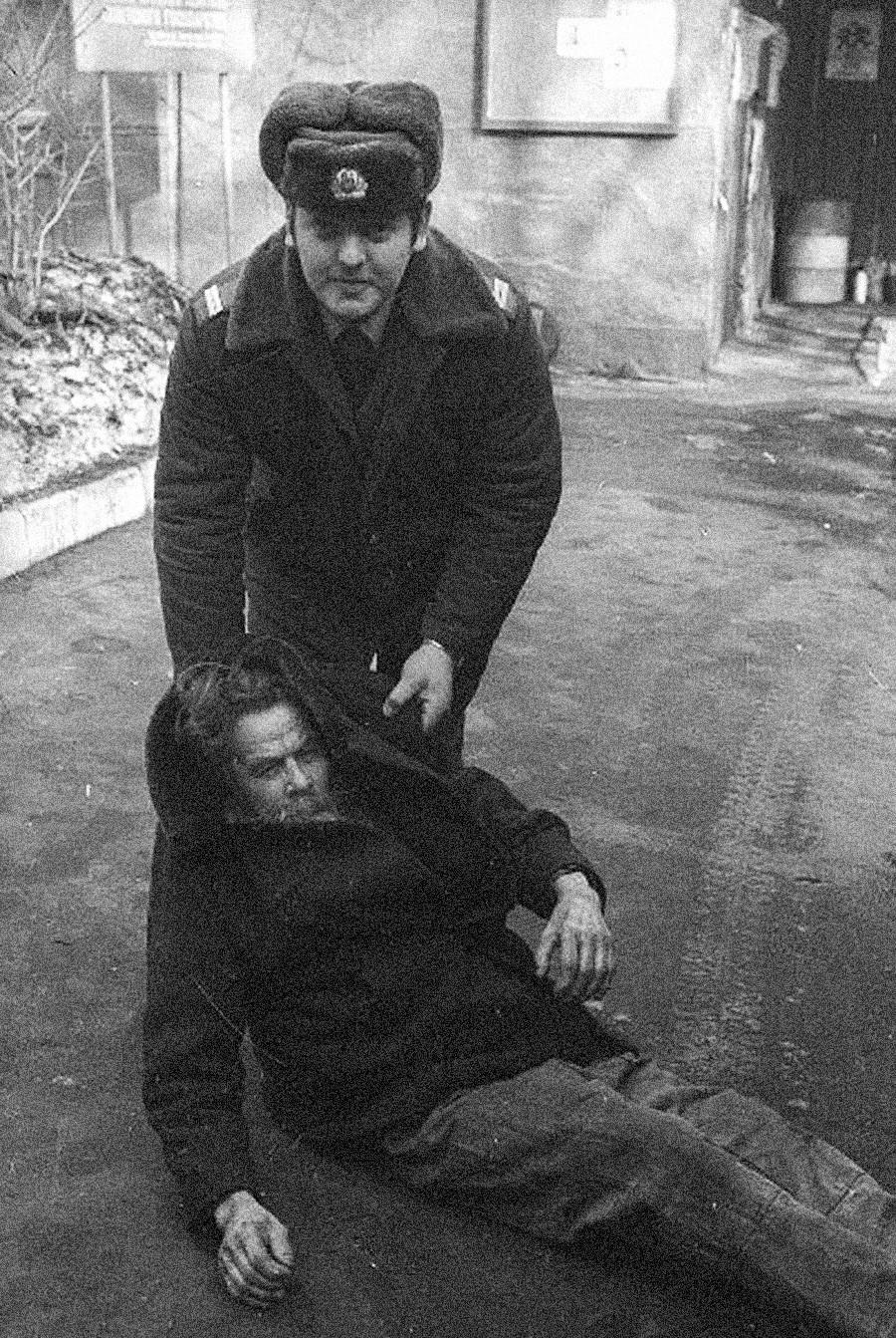 Transfert en cellule de dégrisement, années 1970