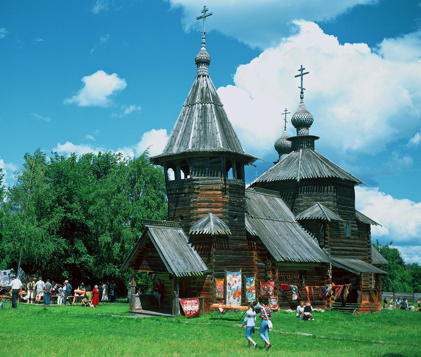 木造建築博物館の敷地にある木造教会