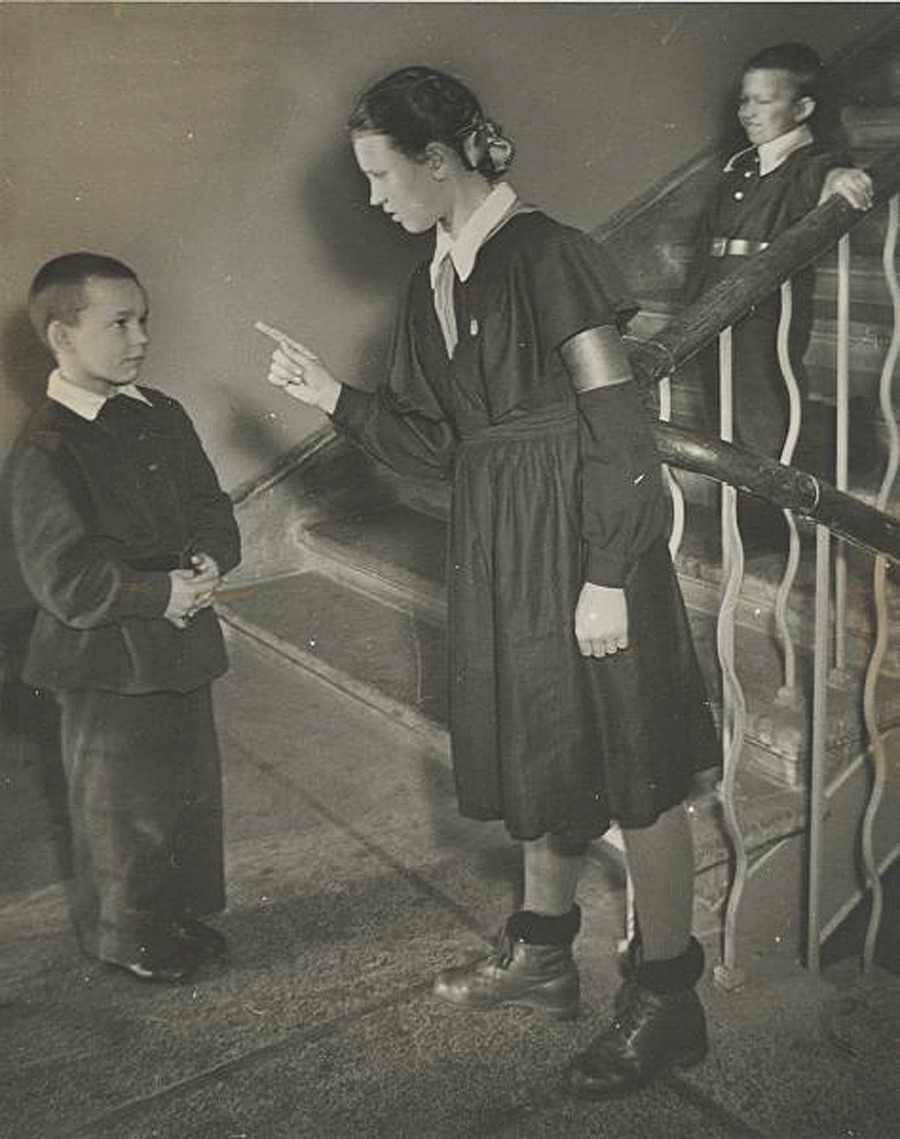 Школьная дежурная, 1955 - 1959