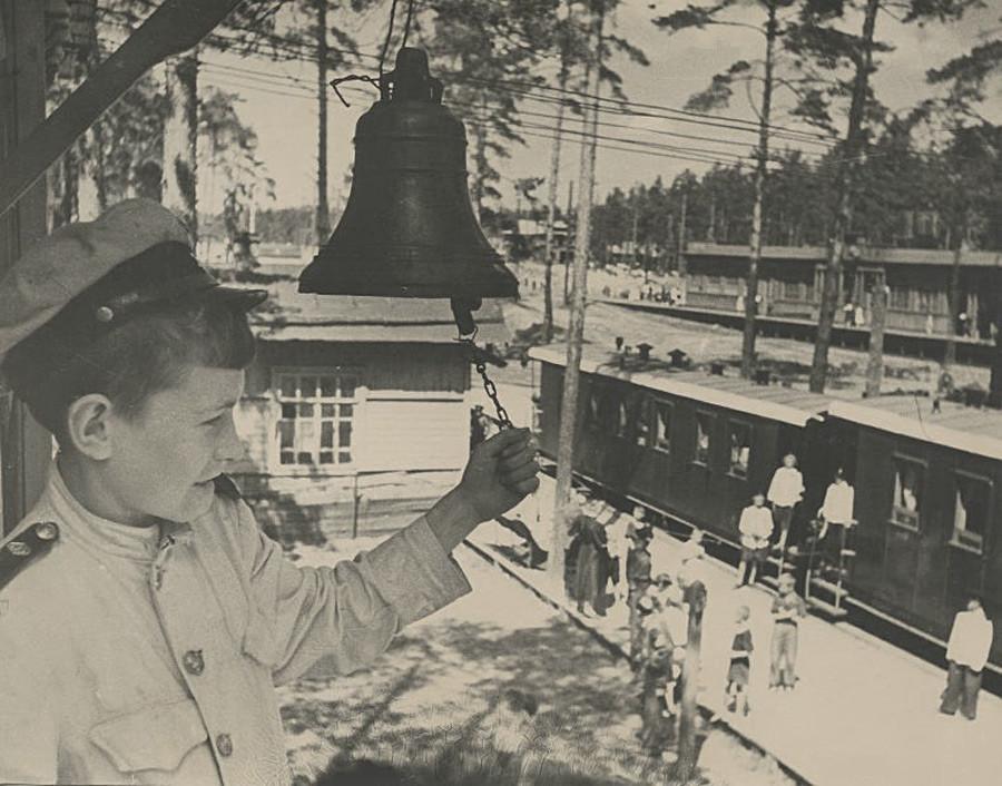 Детская железная дорога в Кратово, 1945 - 1949
