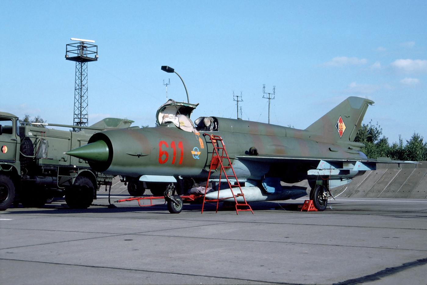 El MiG-21BIS que pertenecía a la RDA.